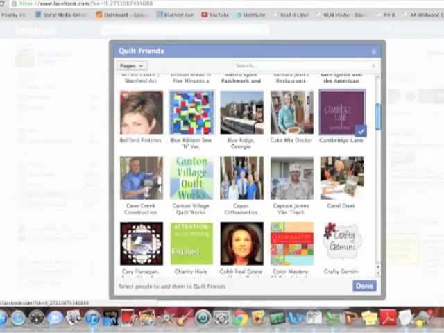 Create Facebook List of Friends & Brands