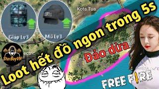 [Garena Free Fire] Mẹo Loot hết Đồ Ngon trên Đảo Dừa trong 5s   StarBoyVN
