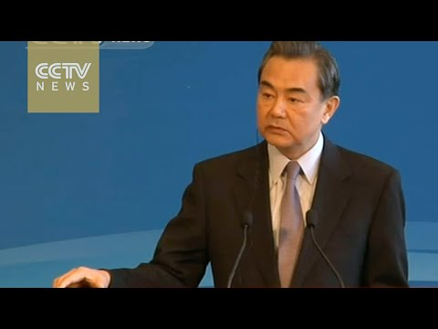 """Chinese Foreign Minister Wang Yi : """"Open, Inclusive and Balanced"""""""