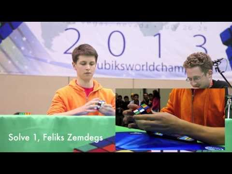 Mats Valk and Feliks Zemdegs: Top 2 Seeds, 3x3 Final Round, Rubik s Cube World Championship 2013