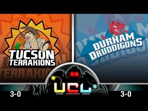 Pokémon ORAS LIVE Wi-Fi Battle [UCL S1W4] Tucson Terrakions vs Durham Druddigons