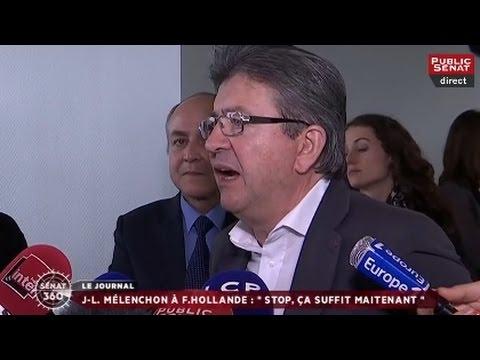 """""""Pour qui vous prenez vous?"""" Colère de Jean Luc Mélenchon contre Manuel Valls et François Hollande"""