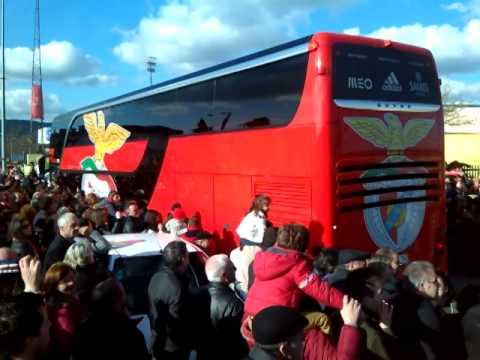 Chegada do Benfica a Pa�os de Ferreira