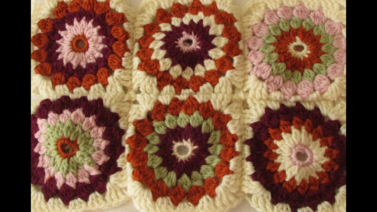 How To Crochet A Granny Square Beginners Tutorial : VERY EASY crochet cluster granny square tutorial - granny ...