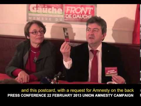 J-L MELENCHON Pt 2 22 FEB 2013 PRESS CONFERENCE UNION AMNESTY English subtitles