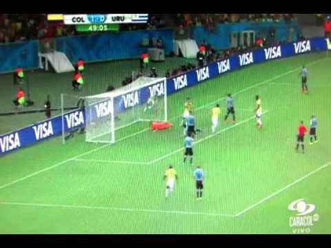 Gol James Rodriguez  Colombia 2 VS Uruguay, 0, GOLEADOR DEL MUNDIAL
