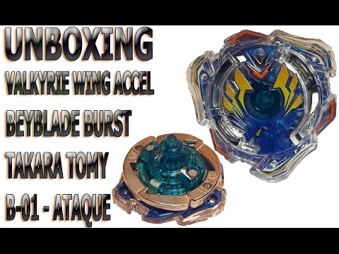 Unboxing - Beyblade Burst - Valkyrie Wing Accel - B-01