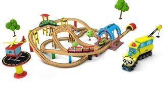 train cartoon for children - kids videos for kids - chu trains - train videos -  toy train