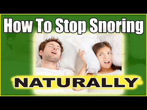 How To Stop Snoring Naturally While Sleeping ~ Snoring Treatment Tips That Work)