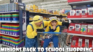 Back to School Shopping with Minion | Shopping Haul for School Supplies | Minion Family