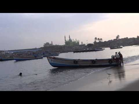 Vizhinjam Fishing Sea port with Boat