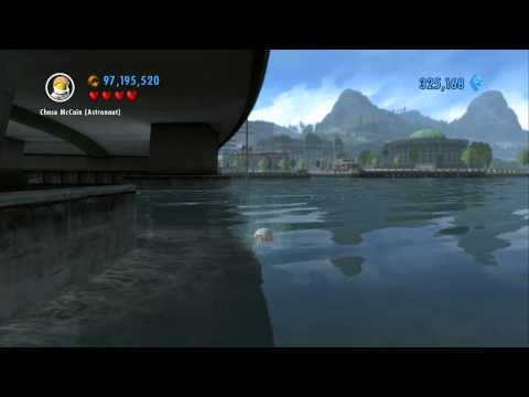 LEGO City Undercover 100% Guide - Blackwell Bridge (Overworld Area) - All Collectibles