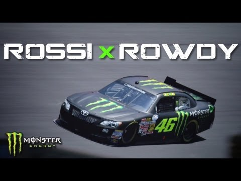Valentino Rossi Carjacks Kyle Busch's NASCAR Ride!