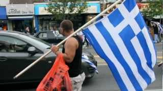 GREECE 1-0 RUSSIA,,Celebration inTORONTO (Greek Town)