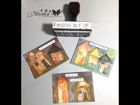 Random Act of Kindness ATC's using distress crayons and Giveaway