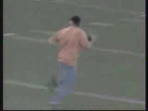 retarted football fan gets smashed