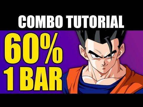 Dragon Ball FighterZ - ADULT GOHAN 60% Combo Tutorial - 1 Bar!