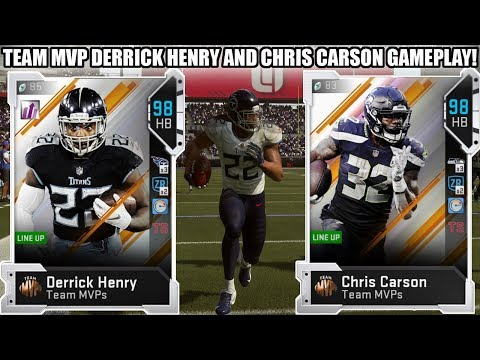 TEAM MVP DERRICK HENRY AND CHRIS CARSON GAMEPLAY! DOUBLE FEATURE!   MADDEN 19 ULTIMATE TEAM