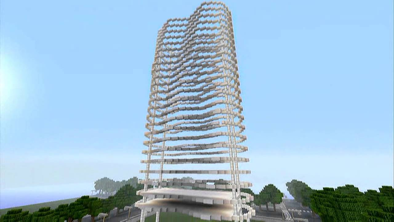 Minecraft 360 pt 134 39 city 39 texture 39 the wave 39 modern building stage 1 youtube
