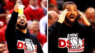 Drake With A HILARIOUS REACTION After Giannis Misses The Free Throw