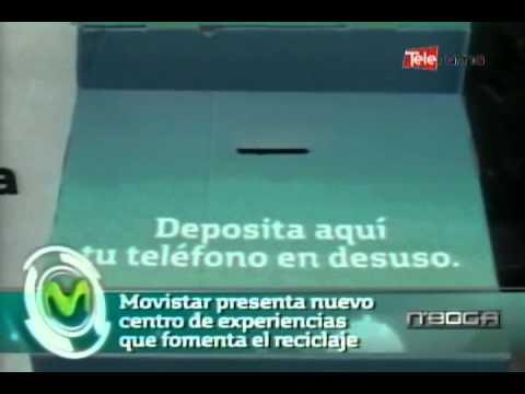 Movistar presenta nuevo centro de experiencias que fomenta el reciclaje