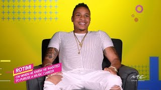 Rotimi Talks Music Career Early Days