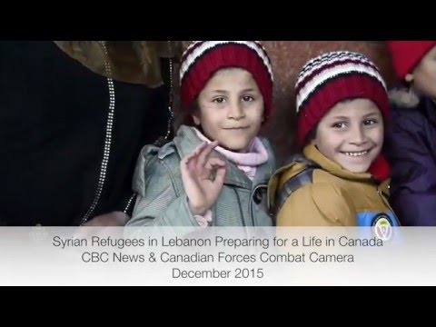 Syrian refugees in Lebanon preparing to leave for Canada