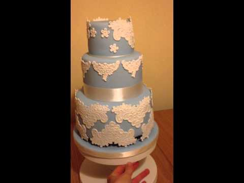 Vintage Lace Wedding Cake video