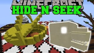 Minecraft: HIDE THE GODZILLA SKULL - HIDE AND SEEK - Modded Mini-Game