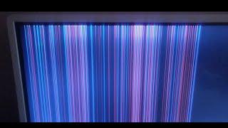 Tv sem imagem com listras coloridas na Tela, Será display? Confira!
