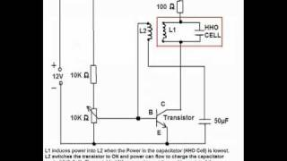 Self Resonating Powering Circuit for HHO cell