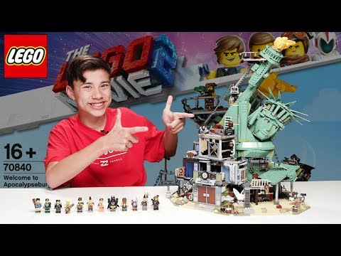 WELCOME TO APOCALYPSEBURG - LEGO MOVIE 2 Set 70840 - Time-lapse Build.  Unboxing. Review!
