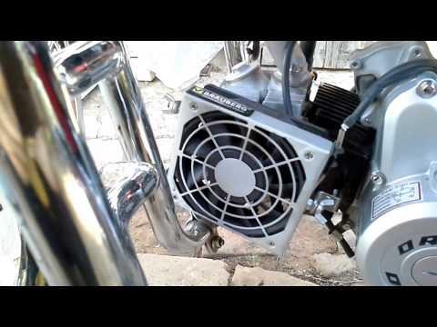 Как сделать воздушное охлаждение на мотоцикл
