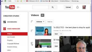 How To Delete A Video On YouTube (as of October 2014)
