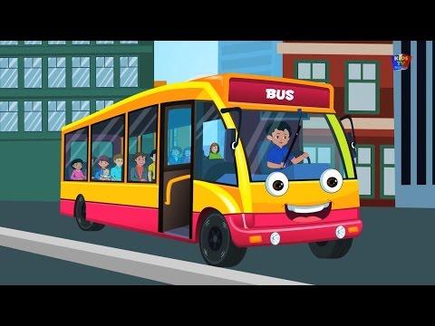 Колеса на автобусе | Мультфильм для детей | Компиляция | Популярная детского стишка | Yellow Bus