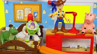Disney Pixar Toy Story 3 playsets in 1 with Buzz lightyear Woody dinosaur rex hamm
