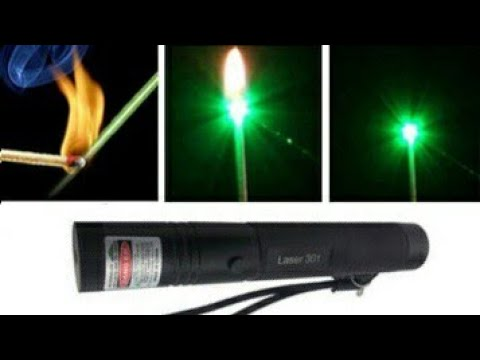 Burning Laser 303   532nm Green Laser with Adjustable Pointer full review and use