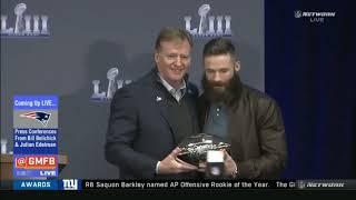 Press Conferences From Bill Belichick & Julian Edelman after Patriots win Rams SBIII