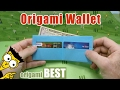 How To Make An Easy Paper Wallet Origami BEST Origami mp3