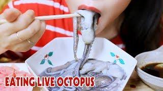 ASMR Raw octopus(Korean Exotic Food), eating sounds | LINH-ASMR