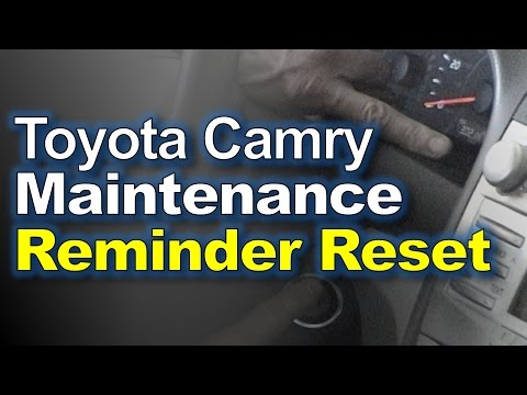 Toyota Camry Reset Maintenance Light