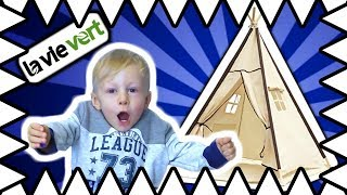 24 Hour Box Fort Tent Challenge - Ryan ToysReview Inspired - I Mailed Myself To Ryan Lavievert Tent