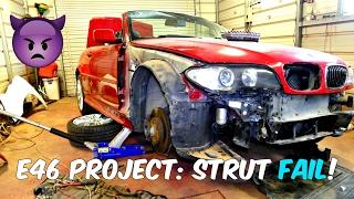 Project: BMW E46 330ci ZHP Front Strut Rebuild FAIL