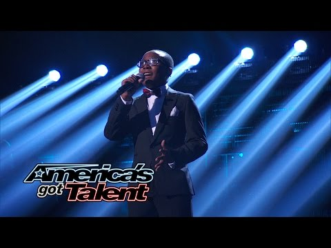 Quintavious Johnson: Young Singer Covers The Beatles' let It Be - America's Got Talent 2014 Finale video