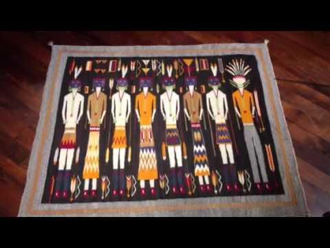 Navajo rug Night Way Ceremony Yei Be Chei circa 1930