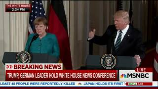 MSNBC Live   Trump German Reporter asks Trump why he is afraid of diversity in news
