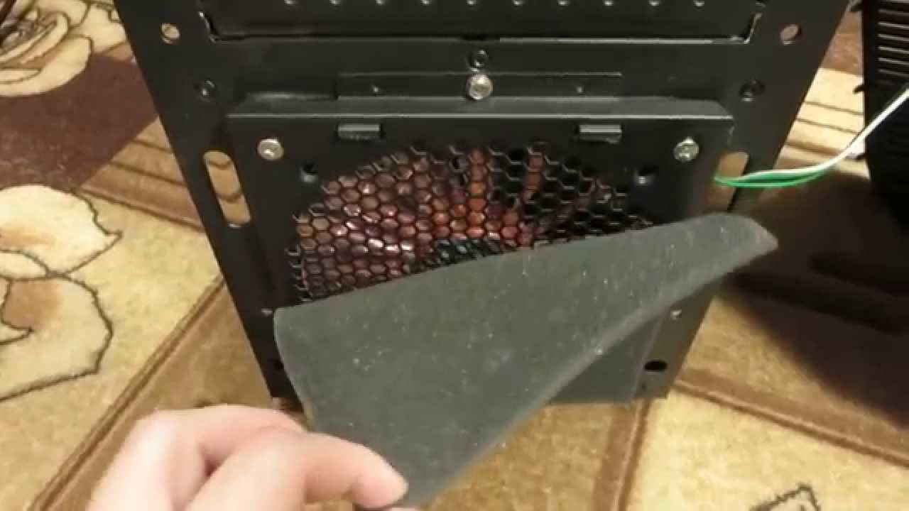 Пылевой фильтр для компьютера и чистка - YouTube