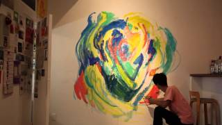 Kaita ABE Live Painting 2015 at iTohen