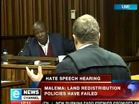 Julius Malema hate speech Video Clip.