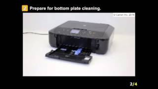 01. PIXMA MG5721: Back of the printed paper displays ink smears or spots.